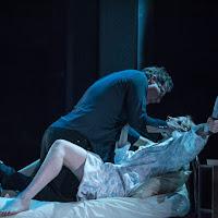 Keith Klassen (Konstantin) and Natalya Gennadi (Oksana) in Oksana G., Tapestry Opera, 2017. Photo: Dahla Katz.