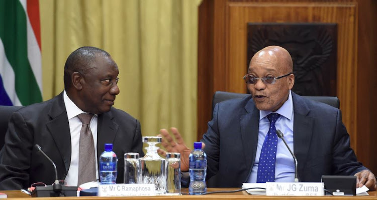 Deputy President Cyril Ramaphosa and President Jacob Zuma.