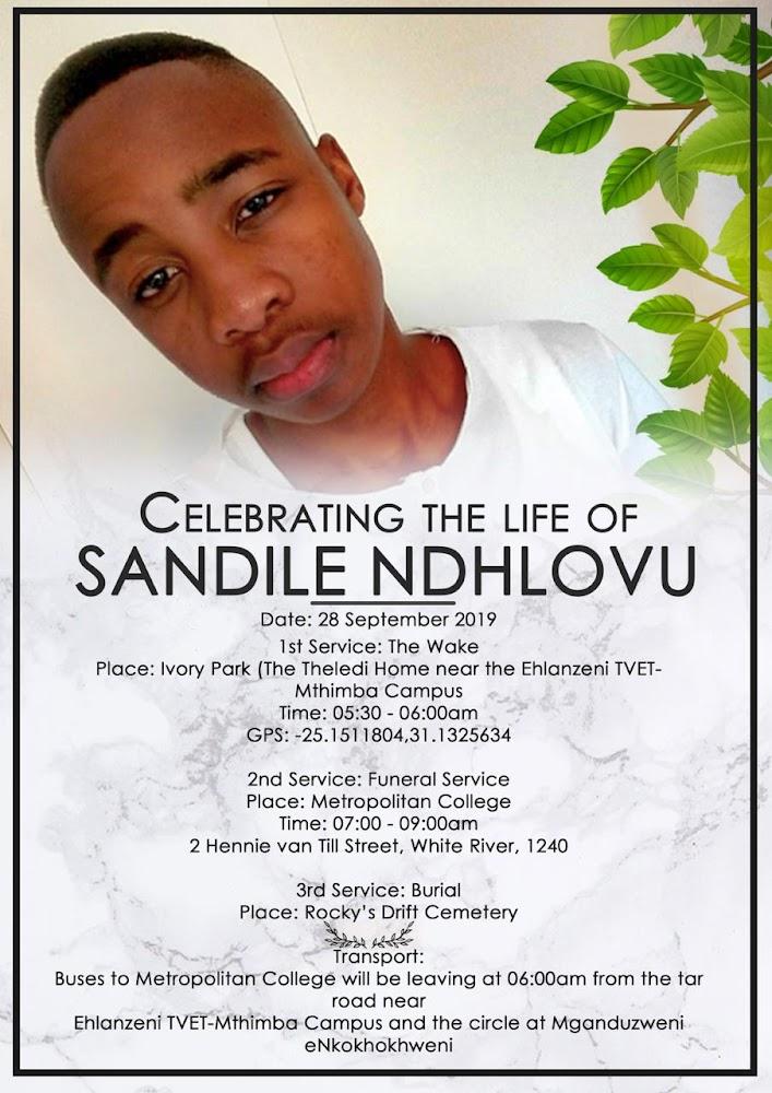 DUT-student geslag wat in sy tuisdorp begrawe word - SowetanLIVE