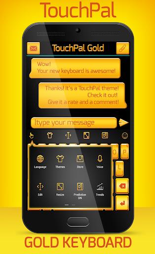 TouchPal Emoji Gold Theme