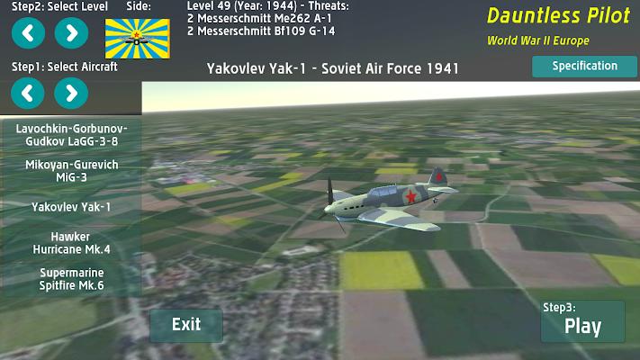 Dauntless Pilot World Warplane Sky War combat - screenshot