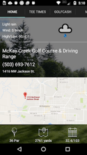 McKay Creek Tee Times- screenshot thumbnail
