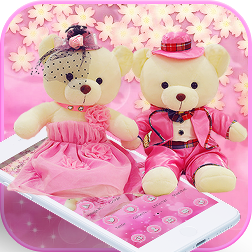 Cute Pink Teddy Bear Blooms Theme Aplikasi Di Google Play