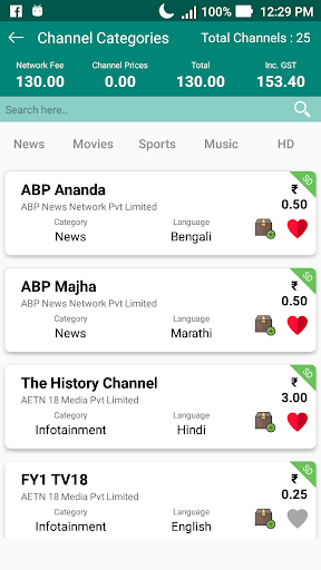 All TV Channel Pricing List | TRAI Regulation Rule App Report on