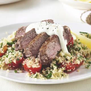 Lamb Loin with Heirloom Tomato Tabouli