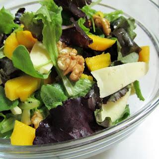 Mango, Apple, Walnuts, and Island Cheese Salad.