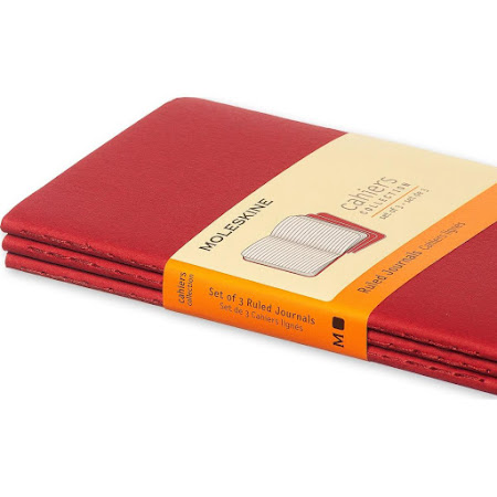 3 x Cahier Journal Pocket Red