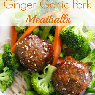 Ginger Garlic Pork Meatballs