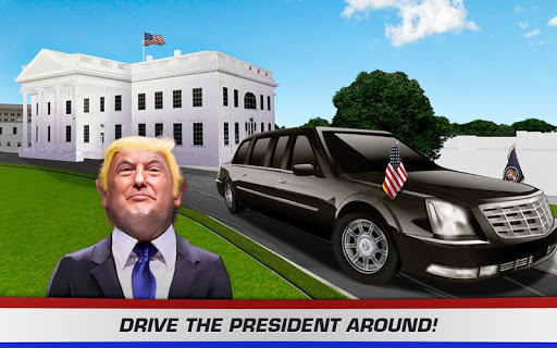 3D Car Driving Simulator - President Donald Trump 1.1 screenshots 7