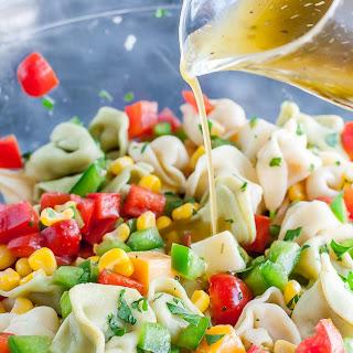 Garden Veggie Tortellini Pasta Salad.