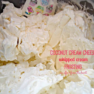 Coconut Cream Cheese Whipped Cream Frosting.
