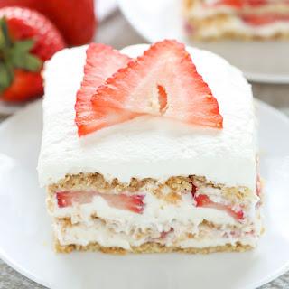 No-Bake Strawberry Cheesecake Icebox Cake.