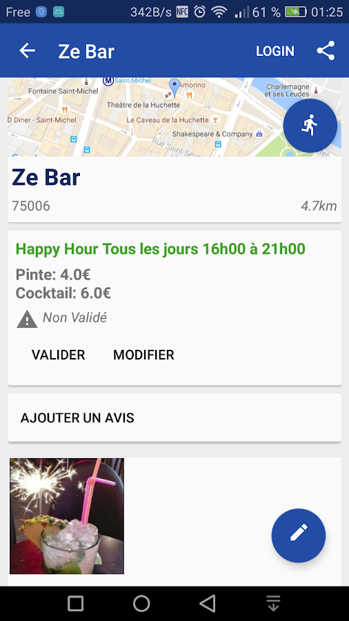 Happy Hours Paris – Capture d'écran