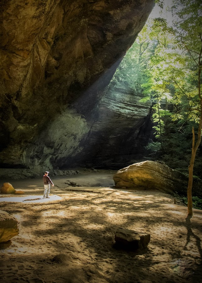 Sunshine Daydream... by Jeff Dugan - Landscapes Caves & Formations ( nature, ohio, ashe cave, sunlight, hiking )