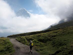 Photo: After lunch we walk to Kleine Scheidegg enjoying great views of the Eiger ...