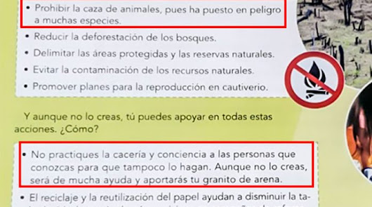 """Denuncian ante la Junta un libro de Primaria que """"adoctrina contra la caza"""""""
