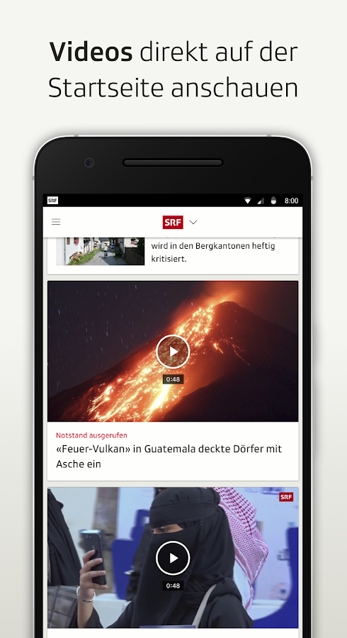 SRF - Nachrichten, Videos und Livestreams- screenshot