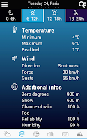 Screenshot of Weather for France and World