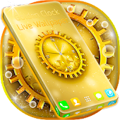 Golden Clock Live Wallpaper