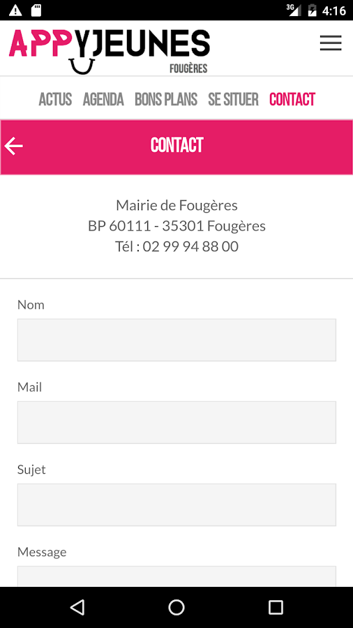 Appyjeunes- screenshot