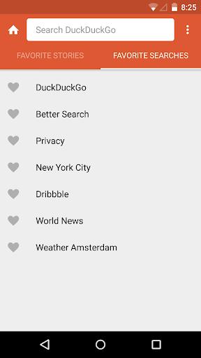 DuckDuckGo Search & Stories Screenshot