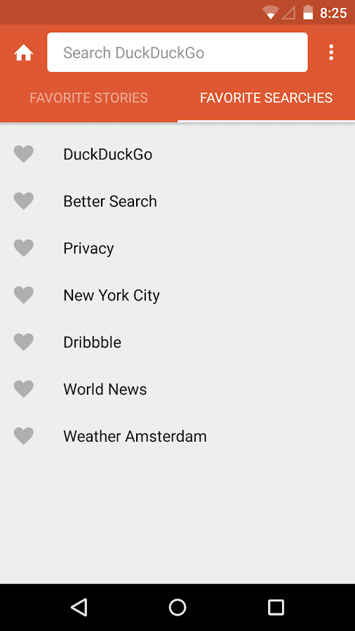 DuckDuckGo Search & Stories: screenshot
