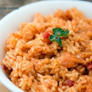 Instant Pot Spanish Rice with Chicken / Arroz Junto con Pollo.