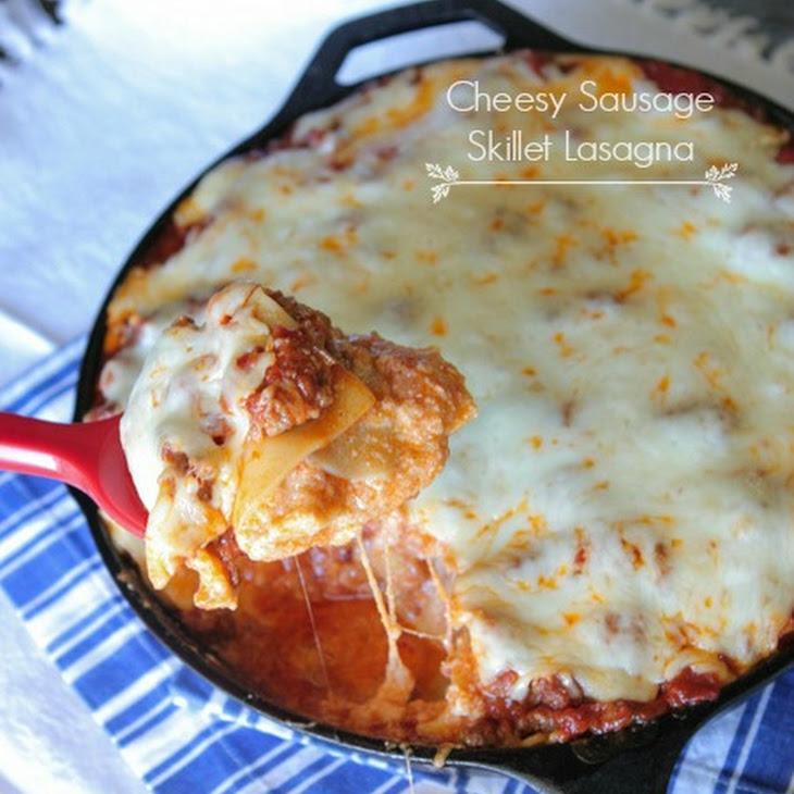 Cheesy Sausage Skillet Lasagna