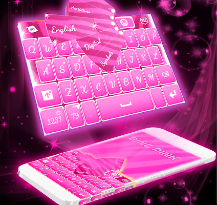 Bling Pink For GO Keyboard - screenshot