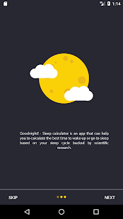 Goodnight! - Sleep Cycle Calculator - náhled