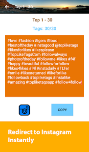 TopLikeTags - Tags for Likes- screenshot thumbnail