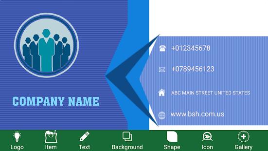 Business card maker free visiting card maker apps on google play screenshot image colourmoves