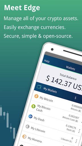 Edge - Bitcoin, Ethereum, Monero, Ripple Wallet 1.11.5 screenshots 1