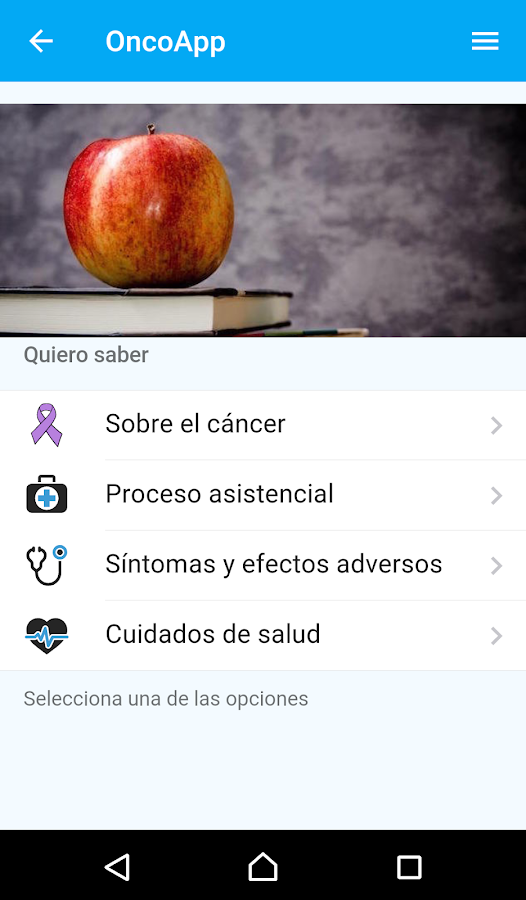 OncoApp- screenshot