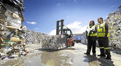 Mpact recycling operations in Tulisa Park, southeast of Johannesburg. Picture: SUPPLIED