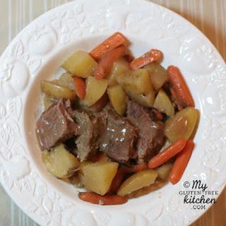 Slow Cooker Pot Roast {Gluten-free}.