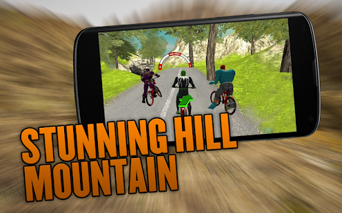 Superhero Bicycle Race Offroad Stunt Rider Game 3D - náhled