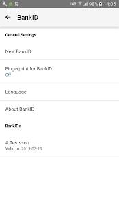 BankID säkerhetsapp - náhled