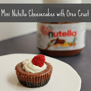 Mini Nutella Cheesecake with Oreo Crust.