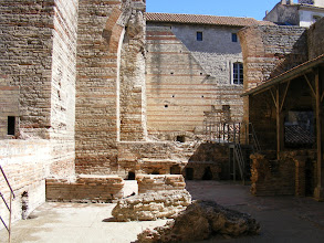 Photo: The full structure, an important social center for the town's residents, included hot and cold pools, and a gymnasium (palaestra).