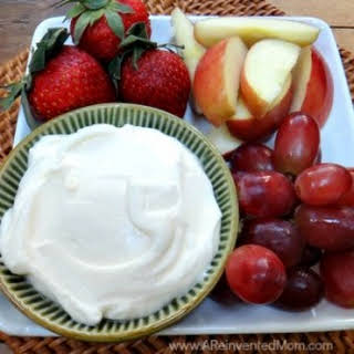 Fluffy Marshmallow Cream Cheese Fruit Dip.
