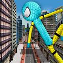 Spider Stickman Crime Chapter: Power Hero Sim icon