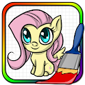 Art Pony Coloring Book icon