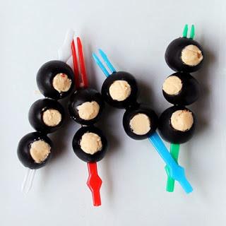 Stuffed Black Olives.