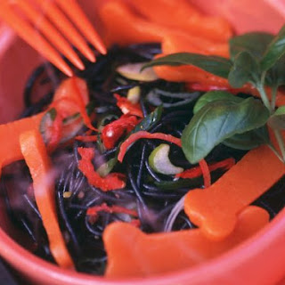 Halloween Black Pasta Salad