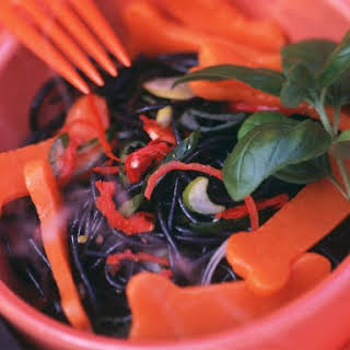 Halloween Black Pasta Salad.