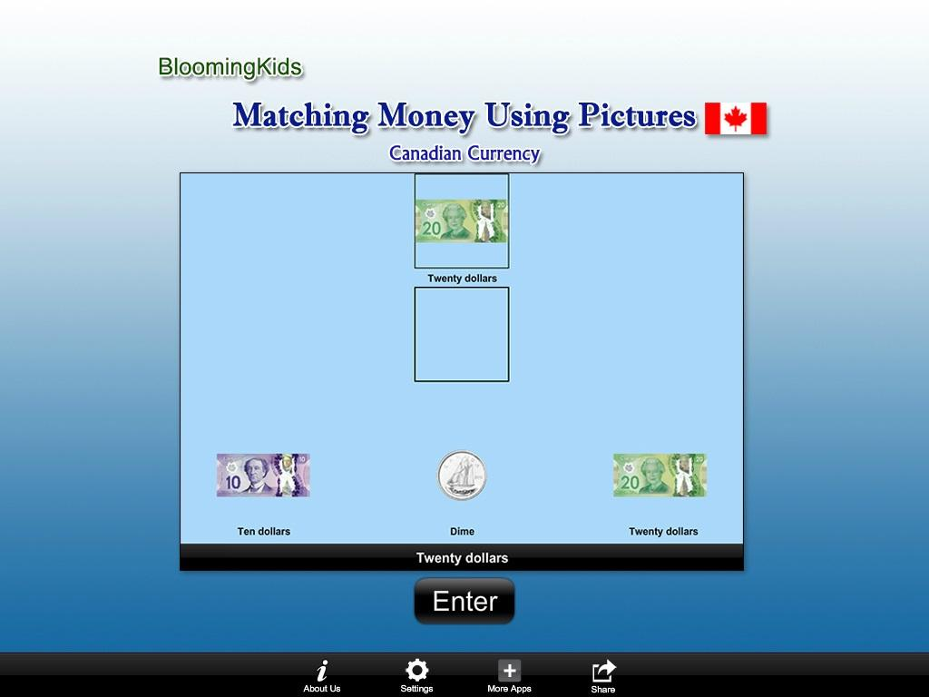 Canadian Matching Money Lite- screenshot