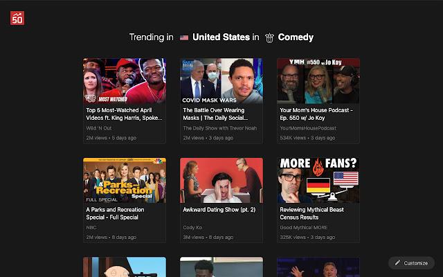 Popular50 : Youtube Trending redefined