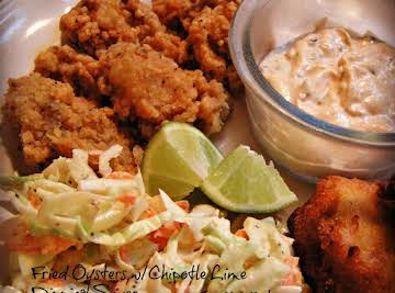 Fried Oysters w/Chipotle-Lime Dipping Sauce