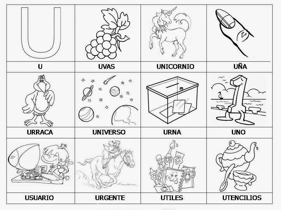 Worksheet. vocales para colorear